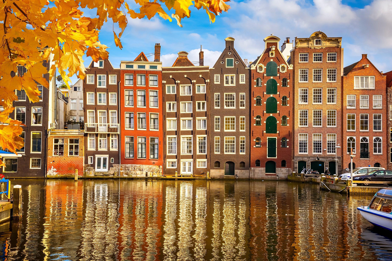 紅葉の季節のアムステルダム